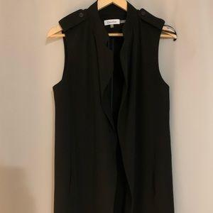 Calvin Klein  Long line open front vest